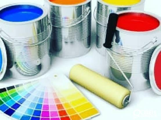 Painting gypsum bod glass partition Az maintenance work  70204745