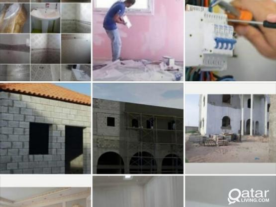 All maintenance services, Paint, electric, steel works,plumber, tiles, gypsum. Please call 66511696