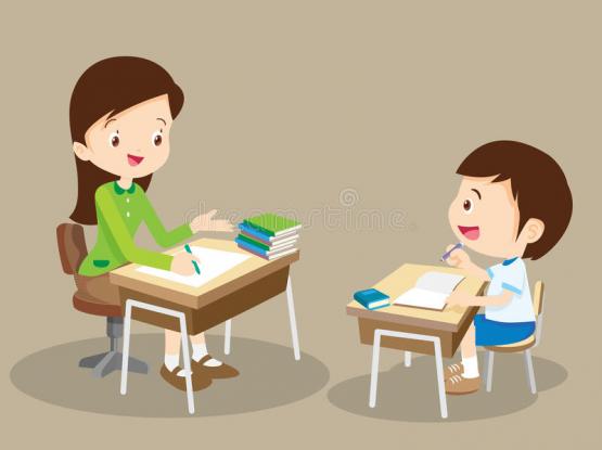 Lady tutor at thumama