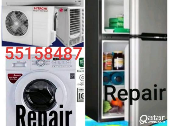Ac, Fridge, washing machine repair and service.