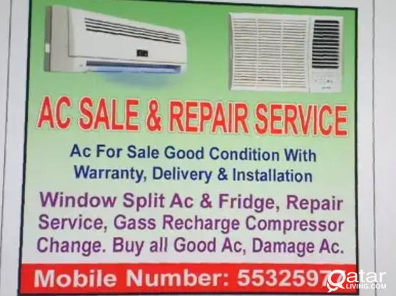 Sale Good Ac and Repair, Service Gass recharge chang compressor