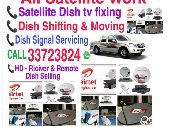 Installation All Satellite dish, tv  Call 33723824 WhatsApp