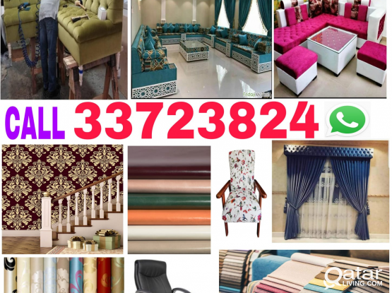 Call us 33723824 Sofa,Curtains new making and clothes changing with Chair, Wallpaper fixing & painting Servicing.