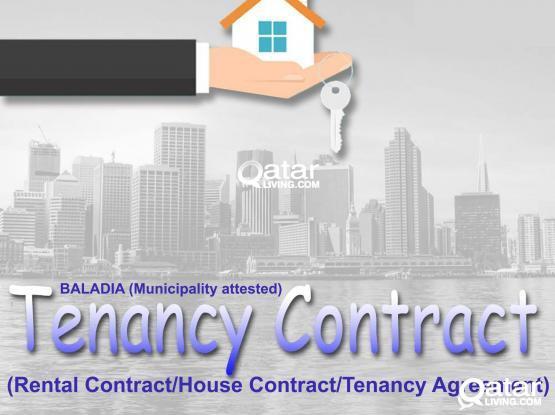 Baladiya (Municipality) attested tenancy contract Please Call - 55158367