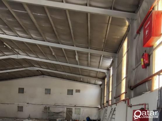 1000 Store with 500 Open Yard For Rent