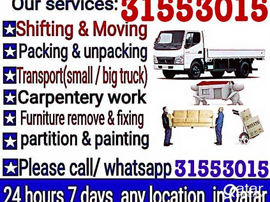 LOW PRICE Moving Shifting Carpenter All Types Furniture buying Call 31553015