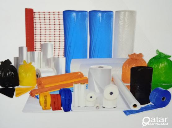 Plastic Products like Polyethylene Sheet, Shrink film, Stretch Film,Bubble Sheet , Warning Tapes, Garbage Bags