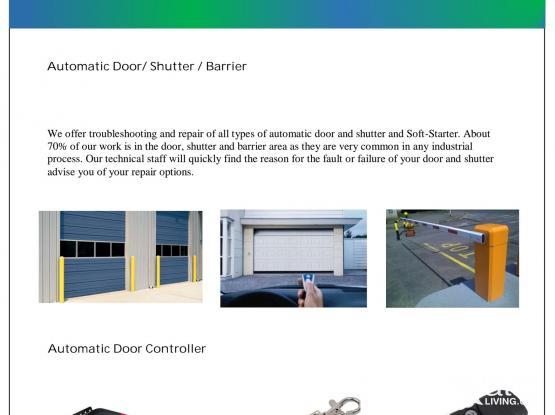 SERVICE- AUTOMATIC DOOR, GENERATOR SERVICE, SUBMERSIBLE PUMPS, CONTROL PANELS, TRANSFORMERS Etc.