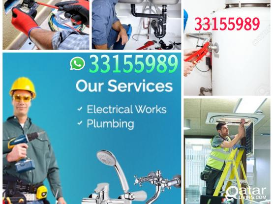 I do kinds of Electrical and plumbing work with Any Maintenance 33155989