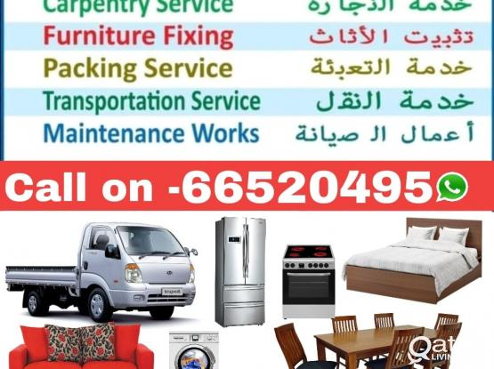 Moving packing villa office shifting carpenter moving removing pickup track transfort any time call, 66520495
