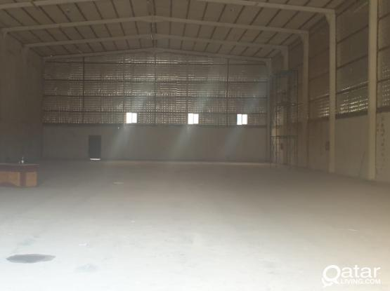 warehouse 850 sq.m QR 25000 industrial area