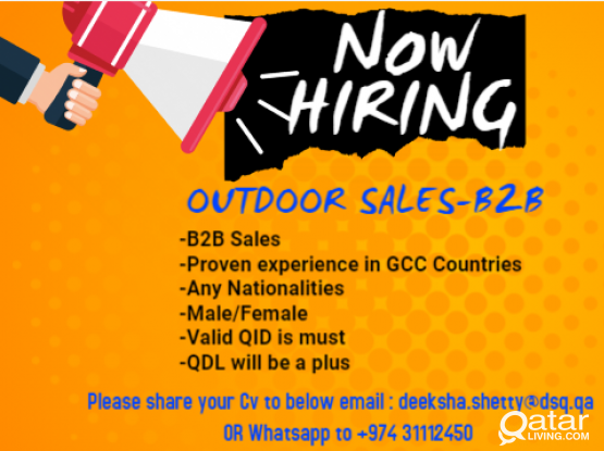 Required - Outdoor Sales(B2B)