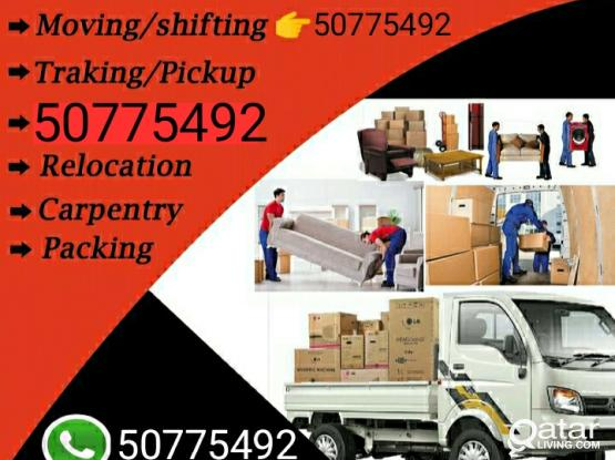 Shifting and moving from and to any location. Please contact 50775492