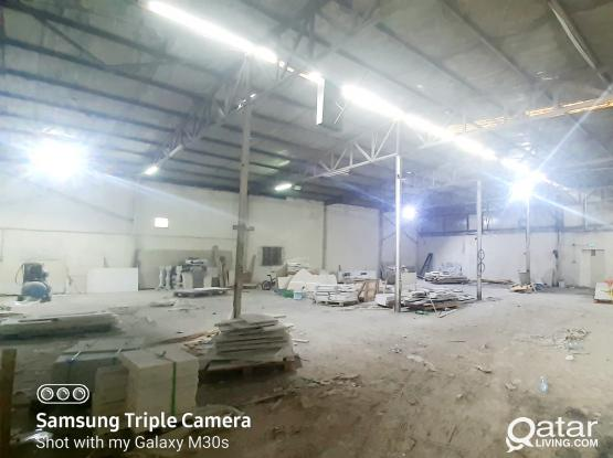 650 SQM MARBLE TILES WORKSHOP WITH 8 ROOMS