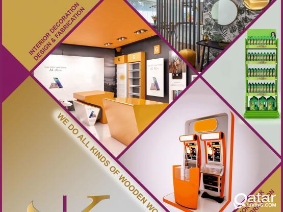 Interior Design works-  Design, Fabrication, Promo works Avaiable