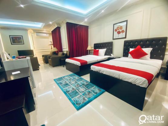 Nice F/F 1BHK Hotel Apartment behind Dar Al Kutub