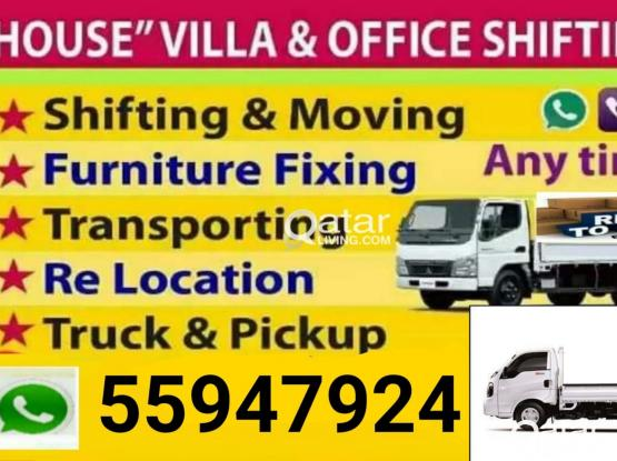 Low price = 55947924 moving,shifting,packing,carpenter. transportation,truck & pickup,painting & partition call me = 55 94 79 24