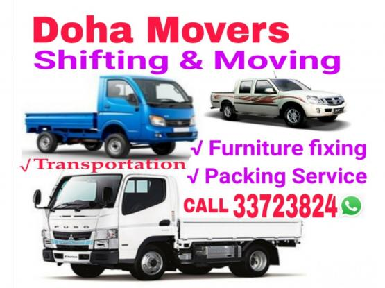 Shifting and Moving Service,Furniture Dismantling and fixing,Truck,Pickup available,Please Call 0097433723824,Houshold items packing and Transportiton Service.