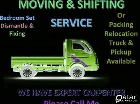 All kinds of shifting services & transportation.  Please call - 77383558
