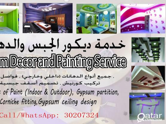 Gypsum Décor, Partition and Painting Service (Indoor & Outdoor)