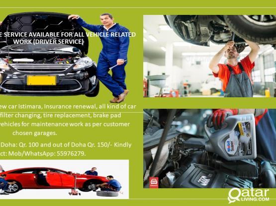 Home/Office service available for all vehicle related work (Driver Service)