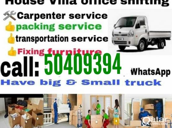 All kinds of Shifting works, Carpentry & Transportation- Please call us 50409394
