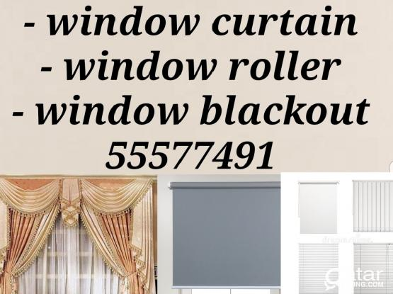 Window curtain roller blackout sell and fixing 55577491