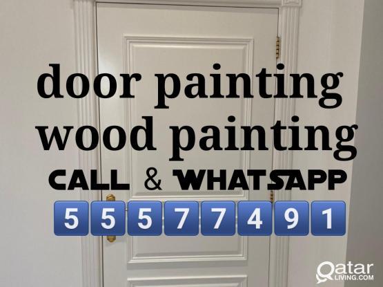 Door wood painting = 55577491