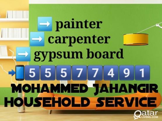Painter - carpenter - gypsum - tiles fixing - parkia wood =55577491