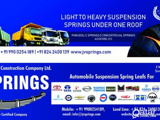 Automobile Spare Parts -  Leaf Springs suppliers for heavy & light vehicles