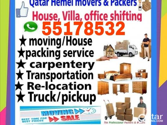 Quality Shifting and Moving at your service. Best prices. Please contact us- 55178532