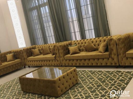 Carpet, curtain, glass, hadid, wallpaper, paint, majlis. Please call me 66979792