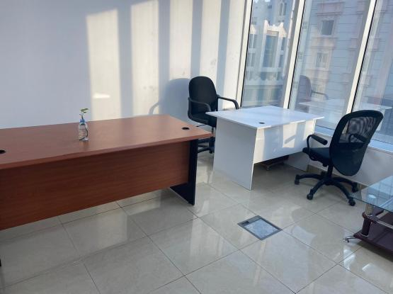 OFFICE FORE RENT QR 7500/- (approx. 126sqm)  2 Month free   Dedicated Covered Parking,  Security  Ready to move in   Excellent location. Easy access to all major places of Doha