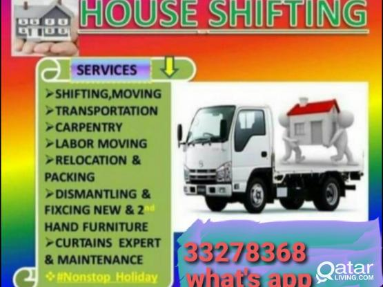 Shifting-Moving and carpentry at good price. Please contact 33278368
