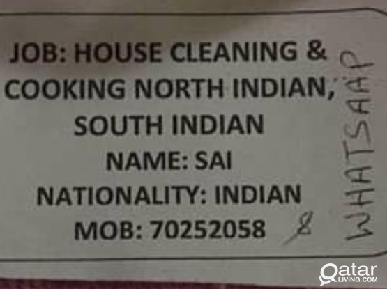 House cleaning and cooking