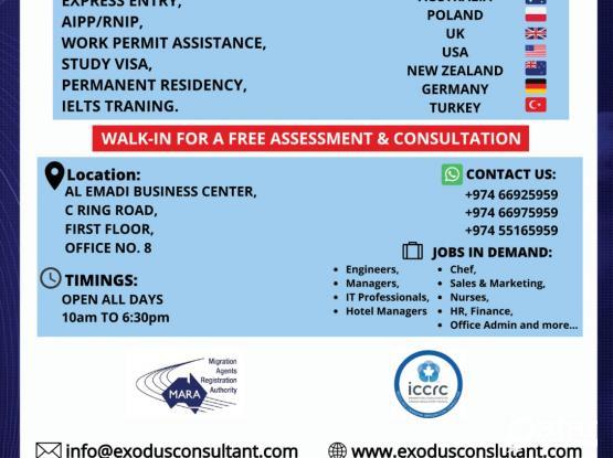 Exodus International Immigration Consultant.