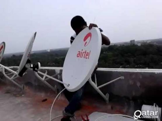 Satellite dish receiver sale and service