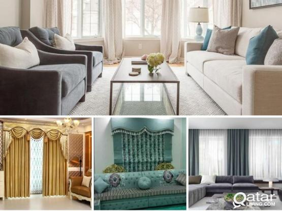 Home dacoration work like curtains,sofa,wallpaper making hole qatar..