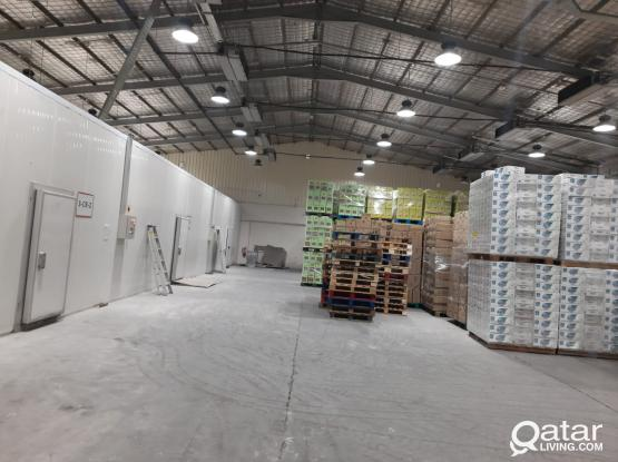 The food store fully equiped with cold store + warehouse with temp control (-15C to +18C) special location main road street no 2