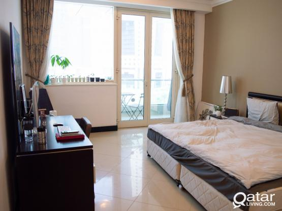 Beverly Hills Tower  (West Bay) - Beautiful furnished ensuite with balcony