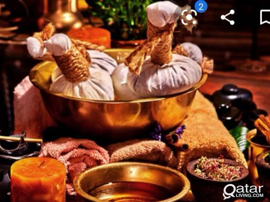 Herbal Ayurvedic massage