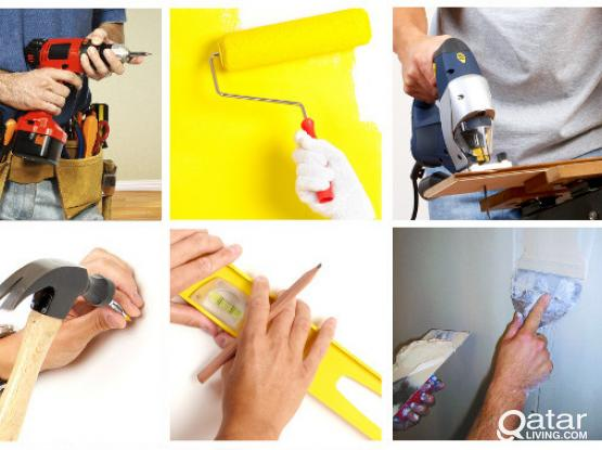 Experts of Gypsum board decoration and painting works, also all maintenance works. Please call 66446543