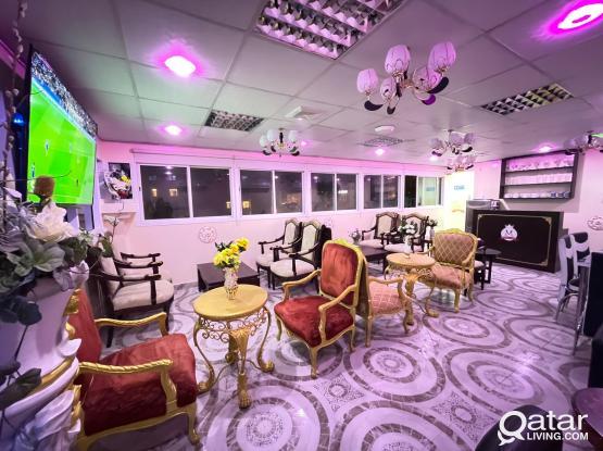 Shisha Café with Restaurant in Old Al Ghanim area !