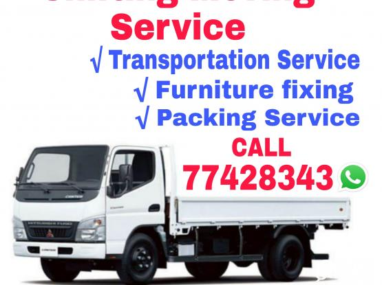 Moving, Shifting-packing service truck,pickup available  Call-77428343 House,villa,office Furniture