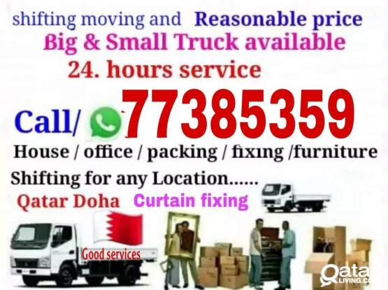 Moving Shifting With Fixing And Bay Serbices We Can Handle Big Works For You..Please Call..-77385359