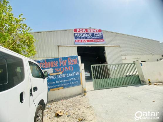 600 SQM Big Store Offering for Rent in Industrial area