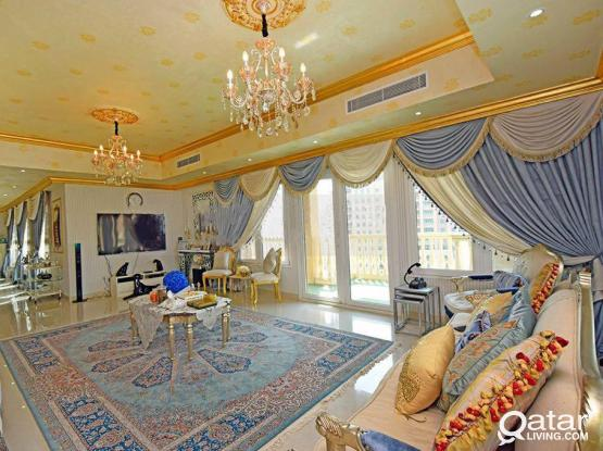 Fully Furnished, 3 BHK Apartment in The Pearl Qatar For Sale