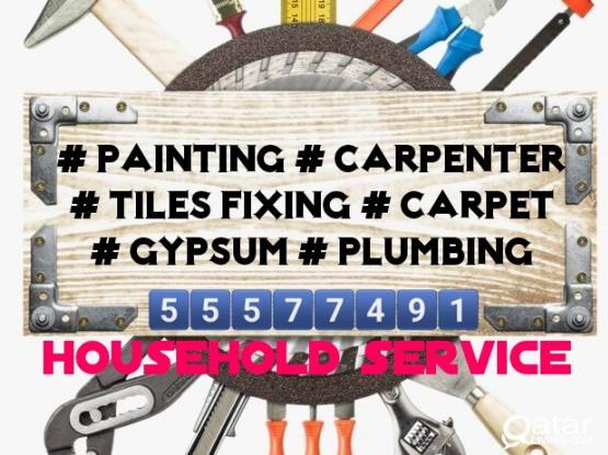 tiles fixing - painting - carpenter - gypsum - parkia wood =55577491