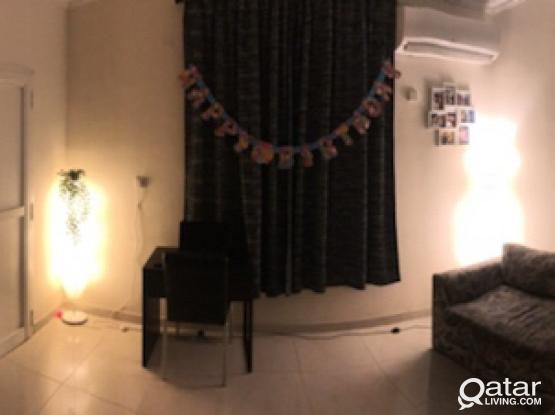 Fully Furnished 1 Bhk For rent - 3500 Qar (family)