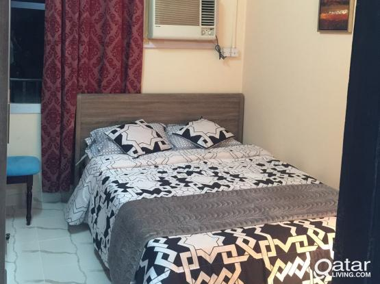 Fully Furnished Bedroom with sharing bathroom for single bachelor available from 1st October- Najma Toyota Signal